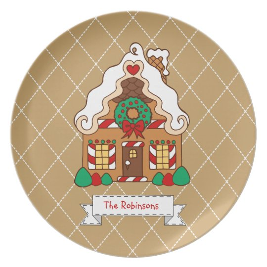 Personalised Family Gingerbread House Plate Decor