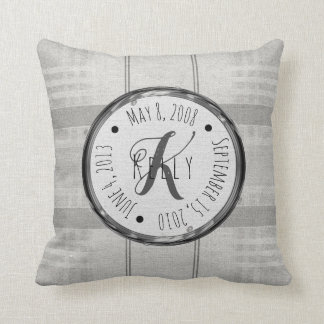 Personalised Family Name & Date Pillow