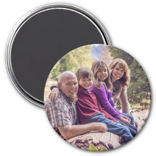 Personalised Family Photo and Name Magnet