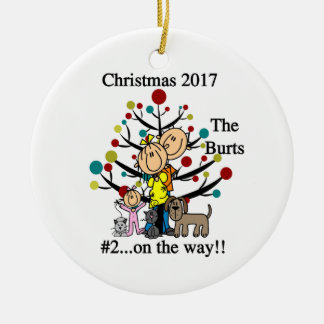 Personalised Family With Pets Ornament