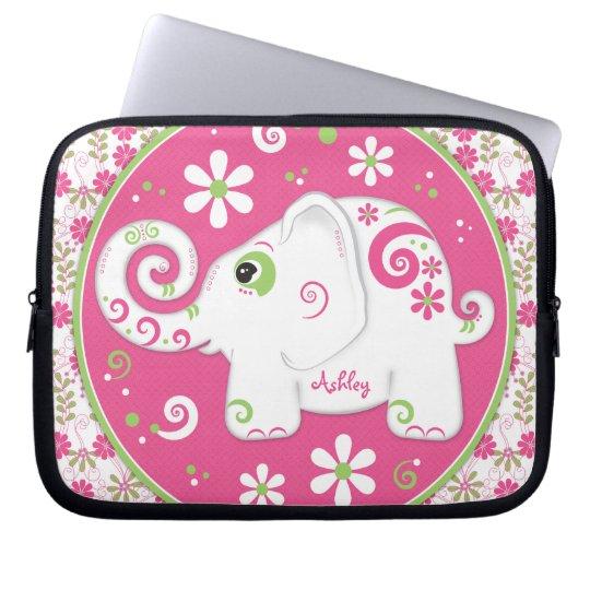 Personalised Fancy Elephant Laptop Sleeve