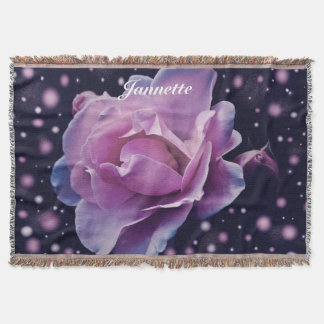 Personalised Fantasy Rose Throw Blanket
