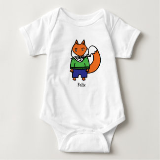 Personalised Felix the Fox Baby Bodysuit