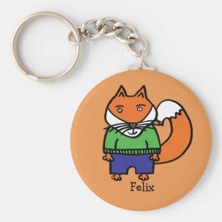 Personalised Felix the Fox Key Ring