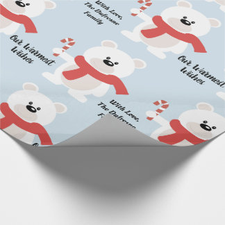 Personalised Festive Bear Wrapping Paper