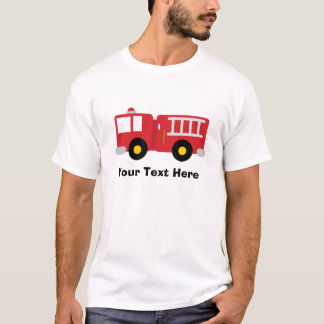 Personalised Fire Truck T Shirt