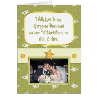 Personalised First Christmas Gorgeous Husband Card