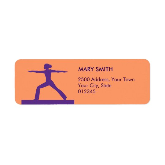 Personalised Fitness Return Address Label