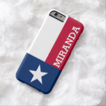 Personalised Flag of Texas Barely There iPhone 6 Case