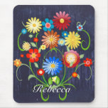 Personalised Floral explosion of colour reprise Mouse Mats