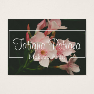 Personalised floral makeup artist business card