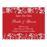 Personalised Floral Vine Save the Date Postcard