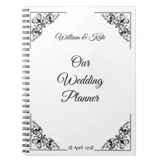 Personalised Flourish Wedding Planner Notebook