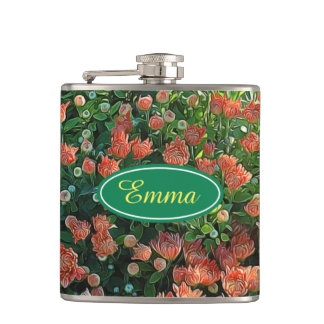 Personalised Flower Garden Secret Flask