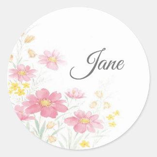 Personalised flower stickers