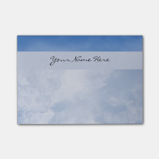 Personalised Fluffy Clouds and Blue Sky Post-it® Notes