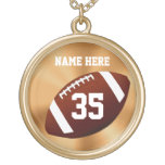 Personalised Football Necklaces w/ NAME and NUMBER