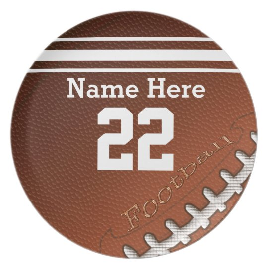 Personalised Football Plates His Name and NUMBER