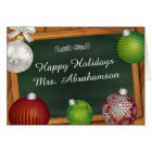 Personalised For Teacher Christmas Card