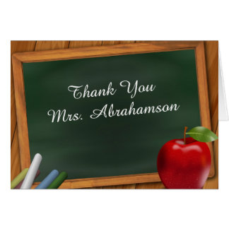Personalised For Teacher Thank You Card