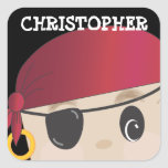 Personalised Friendly Pirate Sticker