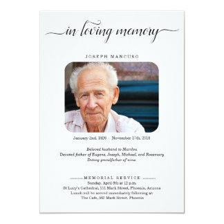 Personalised Funeral Announcement with Photo