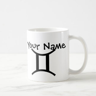 Personalised Gemini Mug - Black White Zodiac Mug