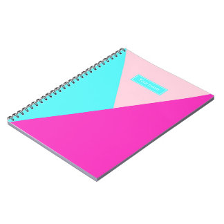 Personalised Geo Graphic print in Brights Notebook