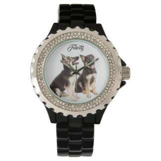 Personalised German Shepherd Puppies Watch