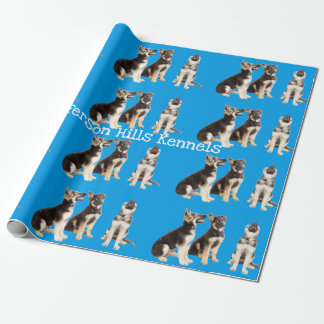 Personalised German Shepherd Puppies Wrapping Paper