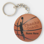 Personalised Gift Ideas for Basketball Coach Basic Round Button Key Ring