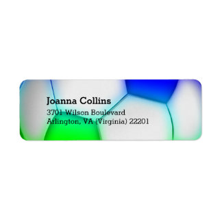 Personalised Girly Colourful Soccer | Football Return Address Label