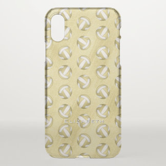 personalised glam gold women's volleyball iPhone x case