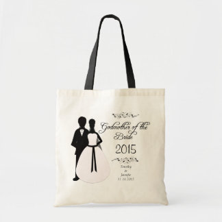 Personalised godmother of the bride wedding favour bags