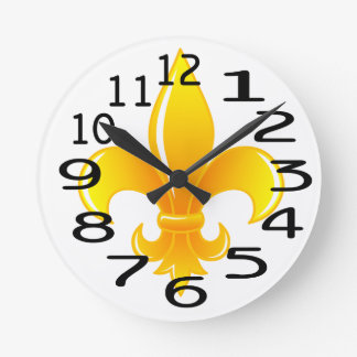 Personalised  Gold Fleur de lis Wallclocks