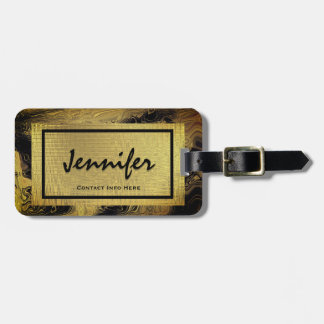 Personalised Gold Glam Luggage Tag