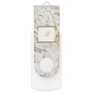 personalised gold marble usb flash swivel USB 3.0 flash drive