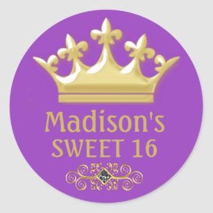 purple crown stickers zazzle au