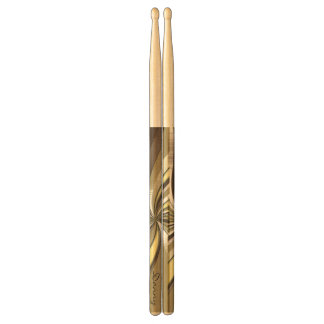 Personalised Golden Swirl Drumsticks