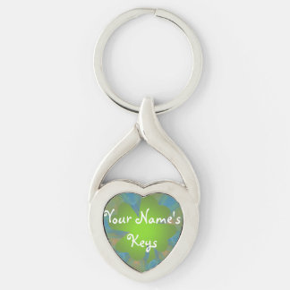 Personalised Good Luck Twisted Heart Keychain
