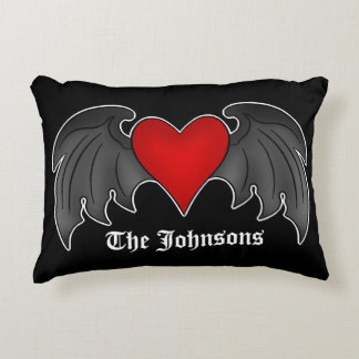 Personalised Gothic heart Decorative Cushion