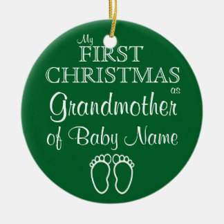 Personalised Grandmother First Christmas Ornament