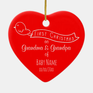 Personalised Grandparents First Christmas Ornament