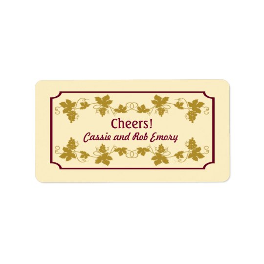 Personalised Grapevine Wine Labels