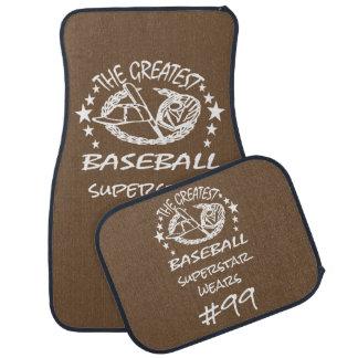 Personalised Greatest Baseball w Ball Bat Glove Car Mat