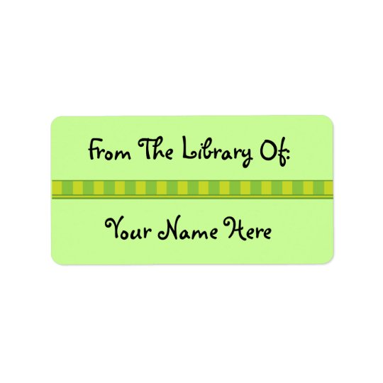 Personalised Green Bookplate Library Stickers