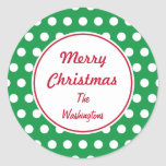 Personalised Green Christmas Stickers