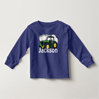 Personalised Green Farm Tractor Toddler T-Shirt