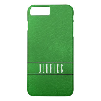 Personalised Green Faux Leather Phone Case