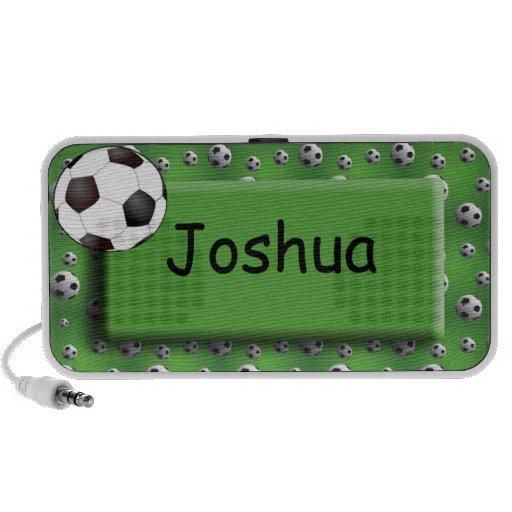 Personalised Green Soccer Ball Doodle Speaker